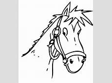 Kostenlose Malvorlage Tiere Pferdekopf zum Ausmalen