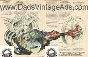 Dadsvintageads Com  1976 Yamaha Xs750 Mechanical Diagram    Parts Schematic    Drawing