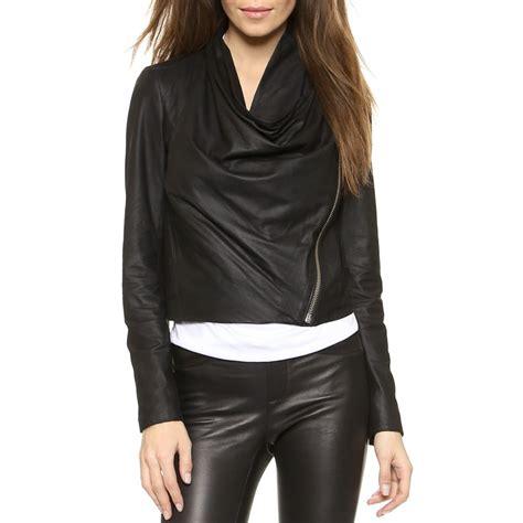 Helmut Lang Draped Jacket - helmut lang drape front leather jacket rank style