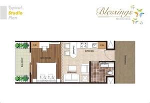 Studio Type Apartment Floor Plan