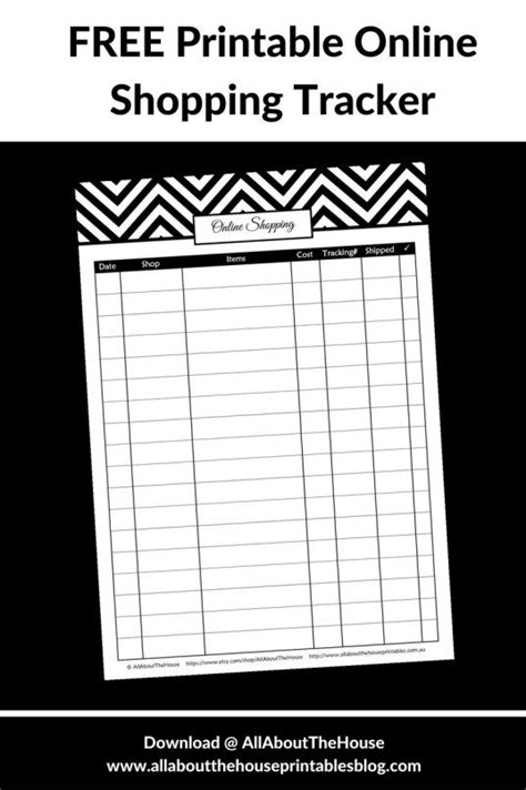 printable  shopping tracker editable planner