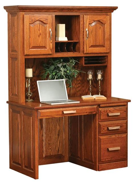 solid oak computer desk for sale amish flat top computer desk with hutch top 48 quot