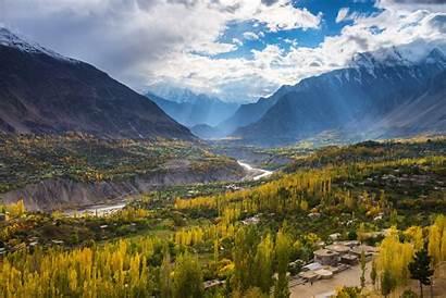 Pakistan Hunza Valley Landscape Autumn Season Landschaft