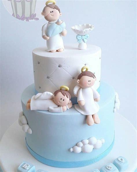 torta de angelitos tortas en 2019 torta bautizo tartas bautizo y tortas de bautismo varon