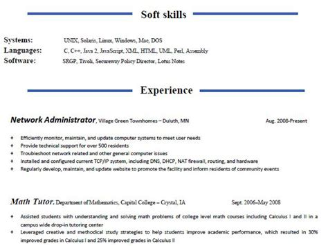 student resume sle no experience free resume checker
