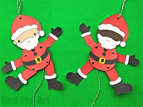 easy santa paper puppet diy  paper puppet template