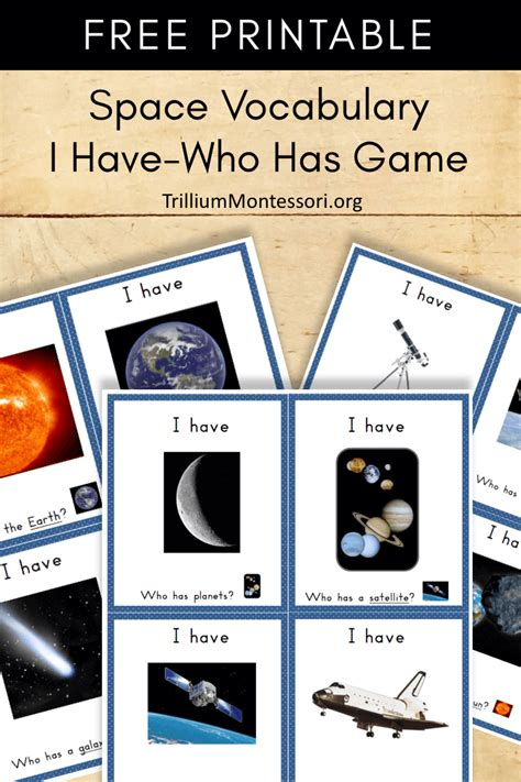 printable astronomy  space vocabulary printables