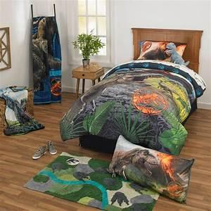 Jurassic, World, Dinosaur, Boys, Twin, Comforter, U0026, Sheet, Set, 4