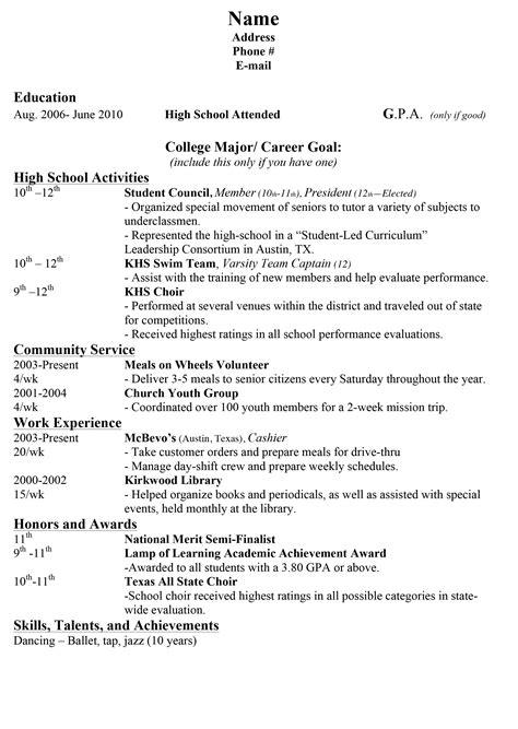 high school grad resume sample monster