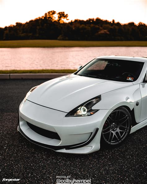 White Amuse Nissan 370Z - Forgestar F14 Wheels in Gloss ...