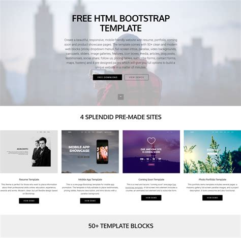 brand   html bootstrap templates