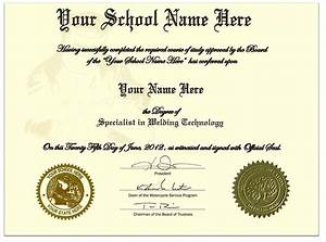 Fake Diploma Template Order Fake Welding Certificate Online Diplomas And More