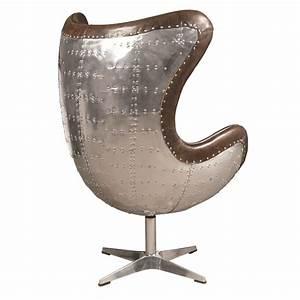 Fabulous, Modern, Cuba, Brown, Leather, Swivel, Egg, Chair, 32, U0026, 39, U0026, 39, X, 46, U0026, 39, U0026, 39, H