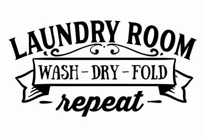 Laundry Wash Dry Fold Repeat Svg Cut
