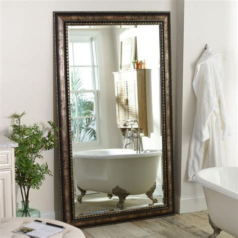 antique silver leaner   mirror pinterest