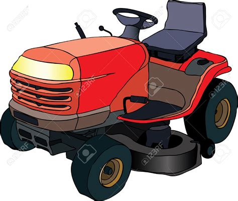 Lawn Mower Clip Tractor Clipart Lawn Mower Pencil And In Color Tractor