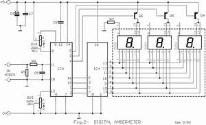 Digital Volt And Ampere Meter Circuit Diagram
