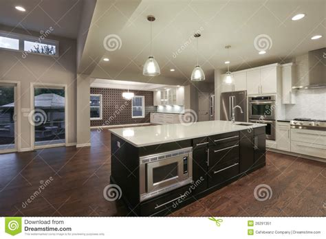 kitchen design plans with island home interior stock image image of home loft