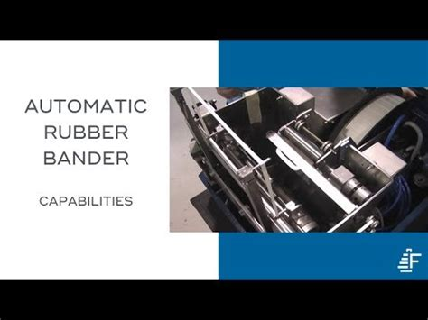 demonstration   felins arb automatic rubber banding machine youtube