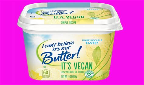 is butter vegan quot i can t believe it s not butter quot goes vegan