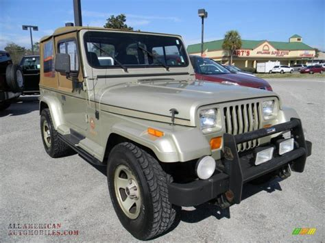 jeep metallic 1992 jeep wrangler sahara 4x4 in light chagne metallic