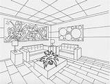 Perspective Drawing Interior Point Sketch Simple Living Furniture Drawings Dream Painting Rendering Sketches Rooms Interiors Modern Getdrawings Designs Tables Ceiling sketch template