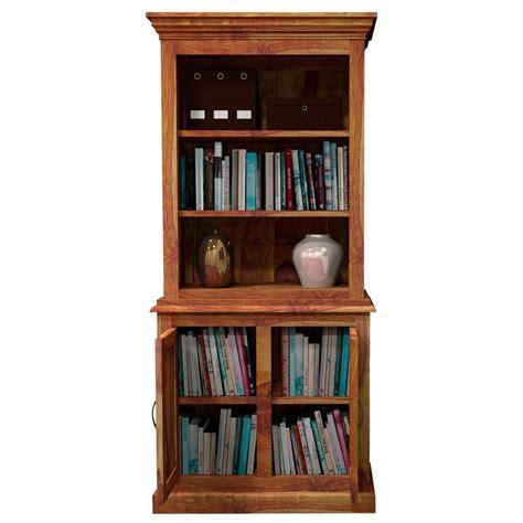 Wood Bookcase Cabinet idaho modern solid wood standard bookcase storage cabinet