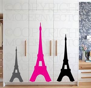 eiffel tower paris theme vinyl wall decal designs decor With eiffel tower decor for bedroom