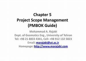 Chapter 5 Project Scope Management  Pmbok Guide