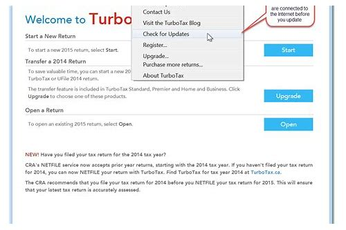 turbotax cannot download updates