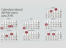 Calendario Laboral País Vasco deFinanzascom