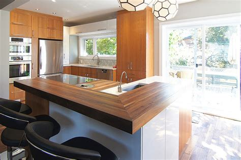cuisine comptoir bois comptoir de bois design cuisine r 233 nom3