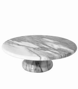 Plateau Pour Gateau : pr sentoir g teau rond en marbre blanc ~ Teatrodelosmanantiales.com Idées de Décoration