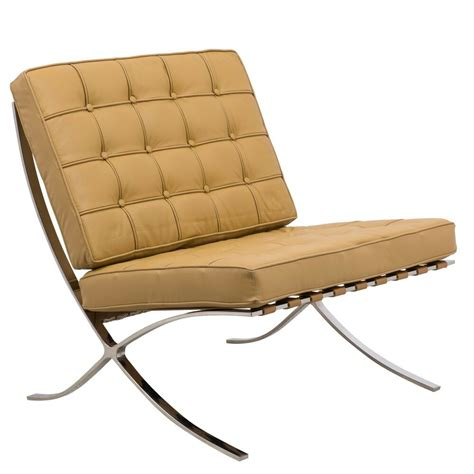 Barcelona chair history, photos, of the world famous iconic chair by mies van der rohe. Barcelona Style Modern Leather Pavilion Chair in Light ...
