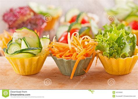 fresh canapes vegetable canapes stock photo image 42318581