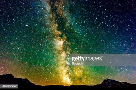 Milky Way Galaxy View Reynolds Mountain Glacier National