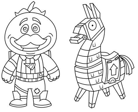 disegni da colorare fortnite lama disegno da colorare fortnite mini tomatohead e mini lama 1