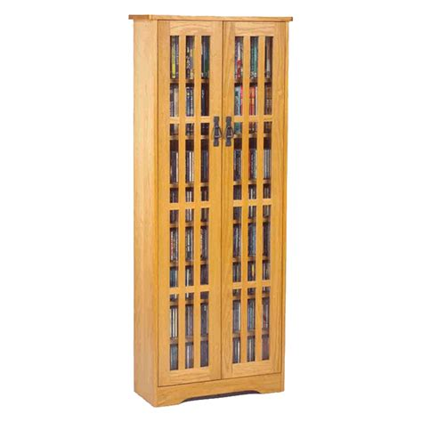 leslie dame mission style multimedia storage cabinet oak m