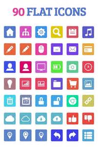 60 Free Flat Icons In Different Shapes Psd Vector