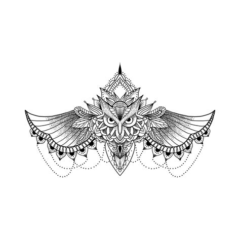 owl artistry temporary tattoo design mandals tattoos