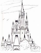 Castle Coloring Princess Disney Pages Cartoon Bubakids Thousand sketch template
