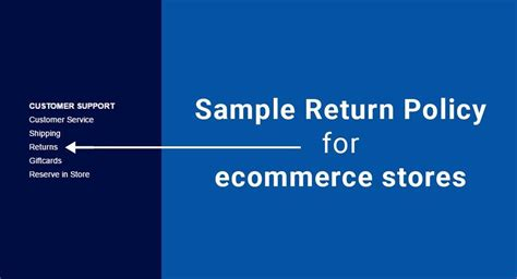 ecommerce returns policy template download free