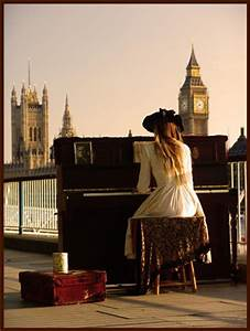 london, girl, piano, cute, photography - image #483790 on ...