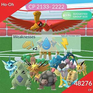 Pokemon Go Ho Oh Best Moves Counters In Raids Heavy Com
