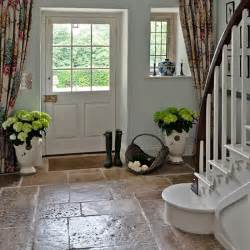 country hallway with flagstone floor hallway flooring