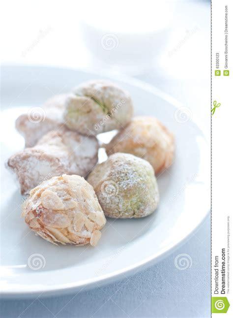 biscuits siciliens faits avec la p 226 te d amande photo stock