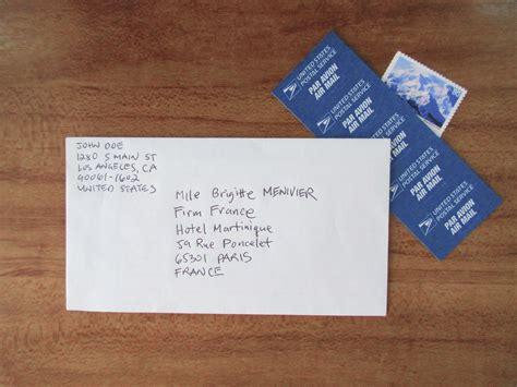 presso nelle lettere come scrivere l indirizzo di una lettera per la francia