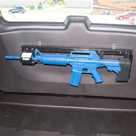 gun rack single weapon ar  blm rear hatch mounted   chevy tahoe gr ar blm tahoe