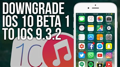 How To DOWNGRADE iOS 10 to iOS 9! - YouTube