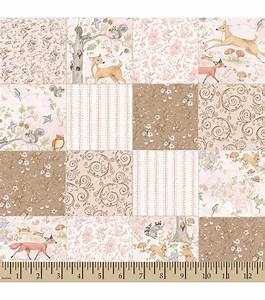 Nursery Fabric Susan Winget Woodland Buddies Block Print
